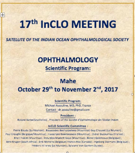 Le Docteur Michael Assouline est responsable scientifique du meeting INCLO.